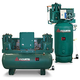 Buy FS-Curtis FCA07E57V8U-A2L1XX, 7.5HP, Two-Stage Piston Comp., 80 Gal, Vertical, 175 PSI, 1-Phase 230V