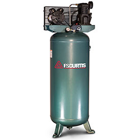 Buy FS-Curtis FCT03C47V6X-A2X1XX, 3HP, Single-Stage Piston Comp., 60 Gal, Vertical, 135 PSI,1-Phase 230V