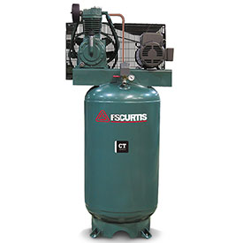 Buy FS-Curtis FCT07C75V8S-A3L1XX, 7.5HP, Two-Stage Piston Comp., 80 Gal, Vertical, 175 PSI, 3-Phase 230V