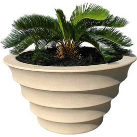 "Melbourne Outdoor Planter 24"", Sandstone"