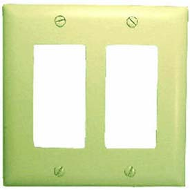 Comprehensive Wallplate Cover, Double Gang, Ivory Decora