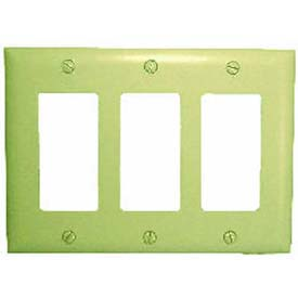 Comprehensive Wallplate Cover, Triple Gang, Ivory Decora