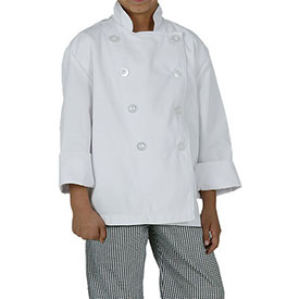 Chef Works Kid's Chef Coat, White, M CWBJWHTM by