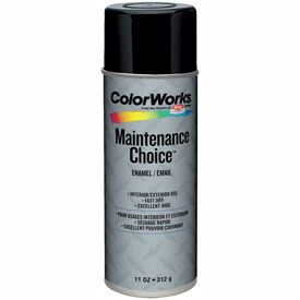 Krylon Industrial Colorworks Enamel Gloss Black - CWBK01007 - Pkg Qty 6