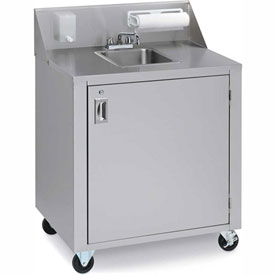 Crown Verity CV-PHS-1C Cold Water Portable Hand Sink Cart by