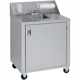 Crown Verity CV-PHS-4C Single Bowl Cold Water Portable Hand Sink Cart by