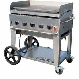 "Crown Verity Mobile Outdoor Griddle 36"" NG MG-36 by"