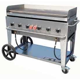 "Crown Verity Mobile Outdoor Griddle 48"" LP MG-48 by"