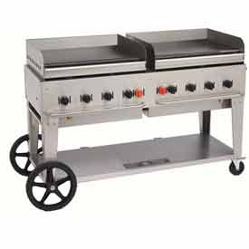 "Crown Verity Mobile Outdoor Griddle 60"" NG MG-60 by"