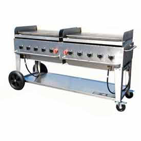 "Crown Verity Mobile Outdoor Griddle 72"" NG MG-72 by"
