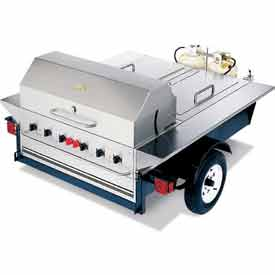 "Crown Verity Towable Grill Tailgate Unit Without Storage LP - 69""W x 124""D x 52""H - TG-1"