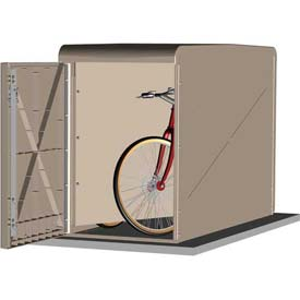 CycleSafe EcoPark® Economical Bike Locker Starter w/2 Doors, 2 Bicycles, Sandstone