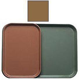 """Cambro 1116508 - Camtray 11"""" x 16"""", Suede Brown - Pkg Qty 24"""