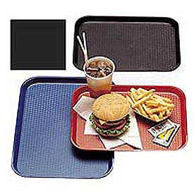 "Cambro 1418FF110 - Tray Fast Food 14"" x 18"",  Black - Pkg Qty 12"