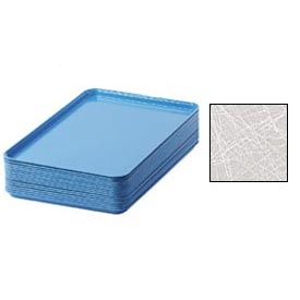 "Cambro 1826215 - Camtray 18"" x 26"" Rectangular,  Abstract Gray - Pkg Qty 6"