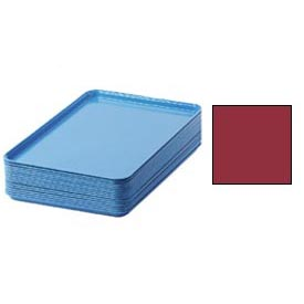 "Cambro 1826221 - Camtray 18"" x 26"" Rectangular,  Ever Red - Pkg Qty 6"