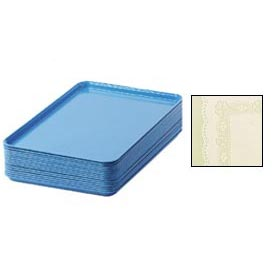 "Cambro 1826241 - Camtray 18"" x 26"" Rectangular,  Doily Antique Parchment - Pkg Qty 6"