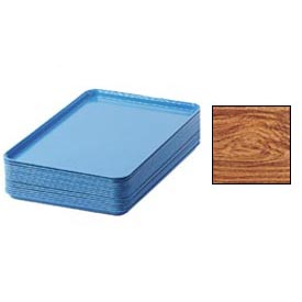 "Cambro 1826309 - Camtray 18"" x 26"" Rectangular,  Java Teak - Pkg Qty 6"