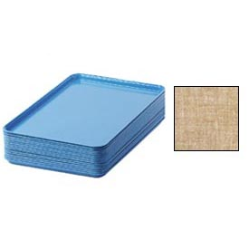 "Cambro 1826329 - Camtray 18"" x 26"" Rectangular,  Linen Toffee - Pkg Qty 6"