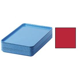 "Cambro 1826510 - Camtray 18"" x 26"" Rectangular,  Signal Red - Pkg Qty 6"