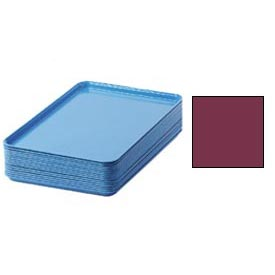 "Cambro 1826522 - Camtray 18"" x 26"" Rectangular,  Burgundy Wine - Pkg Qty 6"