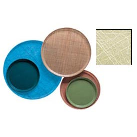 """Cambro 1950214 - Camtray 19.5"""" Round Low,  Abstract Tan - Pkg Qty 12"""
