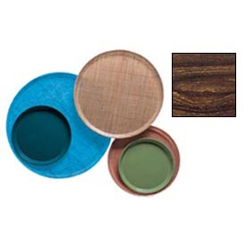 "Cambro 1950308 - Camtray 19.5"" Round Low,  Burma Teak - Pkg Qty 12"