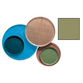"Cambro 1950428 - Camtray 19.5"" Round Low,  Olive Green - Pkg Qty 12"