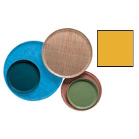 """Cambro 1950504 - Camtray 19.5"""" Round Low,  Mustard - Pkg Qty 12"""