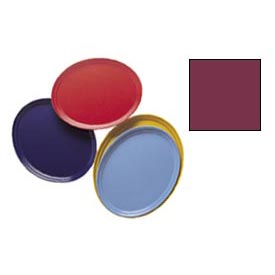 "Cambro 2500522 - Camtray 19"" x 24"" Oval,  Burgundy Wine - Pkg Qty 6"