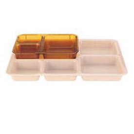 Cambro 853FH150 - Tray 3 Compartment, Amber - Pkg Qty 24