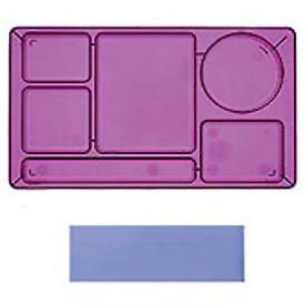 "Cambro 915CW431 - School Tray 2 x 2 10"" x 14"", Translucent Blue - Pkg Qty 24"