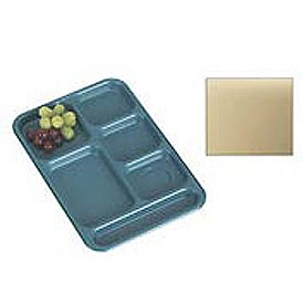 "Cambro BCT1014161 - School Tray 10"" x 14"" 6 Compartment, Tan - Pkg Qty 24"