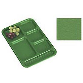 "Cambro PS1014437 - School Tray, 10"" x 14"" 6 Compartment, Grass Green - Pkg Qty 24"