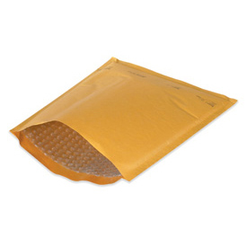 "Economy Heat-Seal Bubble Mailer, 4""W x 8""L x 3/16"" Bubble Lining, Kraft, 25 Pack"