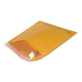 "Self-Seal Bubble Mailer, 5""W x 10""L, Golden Kraft, 25 Pack"