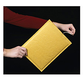"Self-Seal Bubble Mailer With Opening Tear Strip, 7-1/4""W x 12""L, Golden Kraft, 100 Pack"