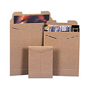 "Stayflat Mailer, 6""W x 8""L, Kraft, 100 Pack"