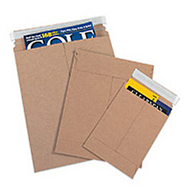 "Self-Seal Stayflat Mailer, 12-3/4""W x 15""L, Kraft, 100 Pack"