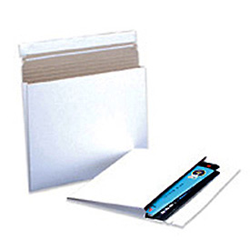 """Gusseted Self-Seal Stayflat Mailer, 7-3/4""""W x 10""""L, 1"""" D, White, 100 Pack"""