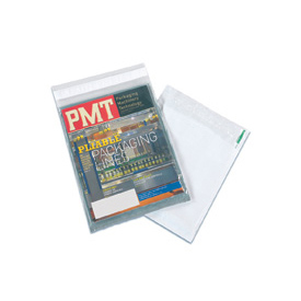 "Clear View Self-Seal Poly Mailer, 10""W x 13""L, Clear, 500 Pack"