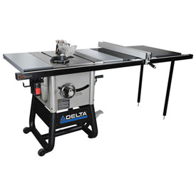 Click here to buy Delta 36-5052 10 In. Left Tilt Table Saw W/52 In. Right Rip, Steel Extension Wings.