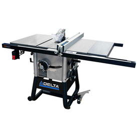 Delta 36-5100 10 In. Left Tilt Table Saw W/30 In. Right Rip, Cast Iron Wings by
