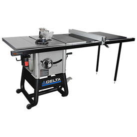 Click here to buy Delta 36-5152 10 In. Left Tilt Table Saw W/52 In. Right Rip, Cast Iron Wings.