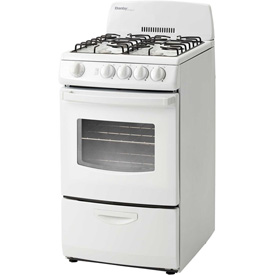"Danby DR201WGLP- Gas Range, 20""W, 110V, 2.4 Cu. Ft. Oven Capacity, With Door Window by"