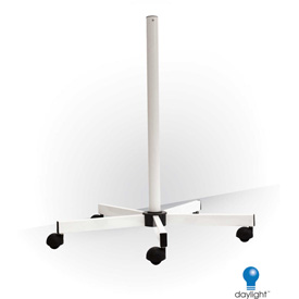 "Daylight™ 31-1/2""H White Five Spoke Floor Stand With Wheels"