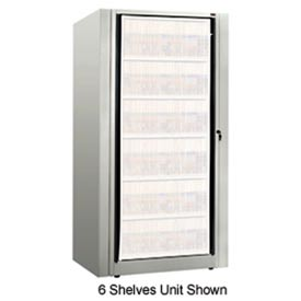 Rotary File Cabinet Components, Base Starter Unit, Legal, 8-High, Light Gray