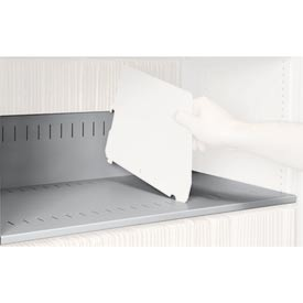 Rotary File Cabinet Components, Slotted Shelf, Legal Depth, Light Gray