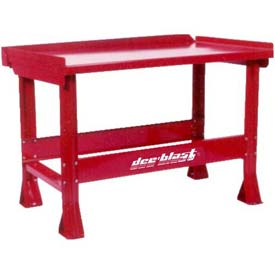 Dee-Blast Drain Table /Work Bench With Trough To Catch Fluids-5' Wide