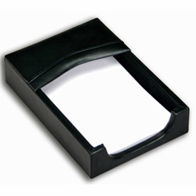DACASSO Classic Black Leather 4 x 6 Memo Holder by